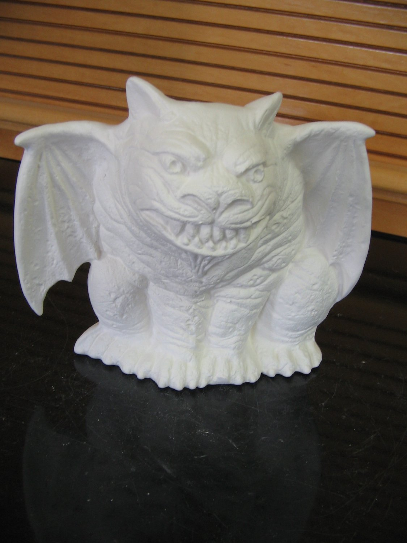 Ready to paint gargoyle u paint ceramic bisque ceramics for Bisque ceramic craft stores