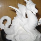 Ceramic Dragon On Rock Ready To Paint Bisque U Paint Ceramics