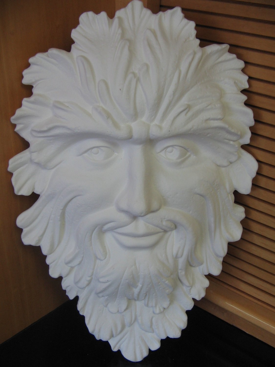 Ready To Paint Green Man Wall Plaque U Paint Ceramic Bisque U Paint