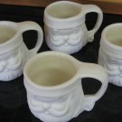 Ceramic Bisque Set of 4 Santa Mugs Ready To Paint U Paint Ceramics