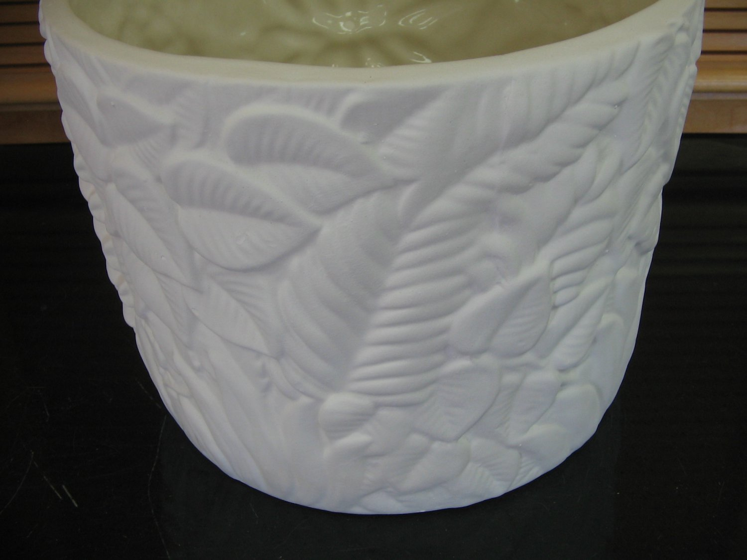 Large Floral Flower Pot Ready To Paint Bisque U Paint Ceramics