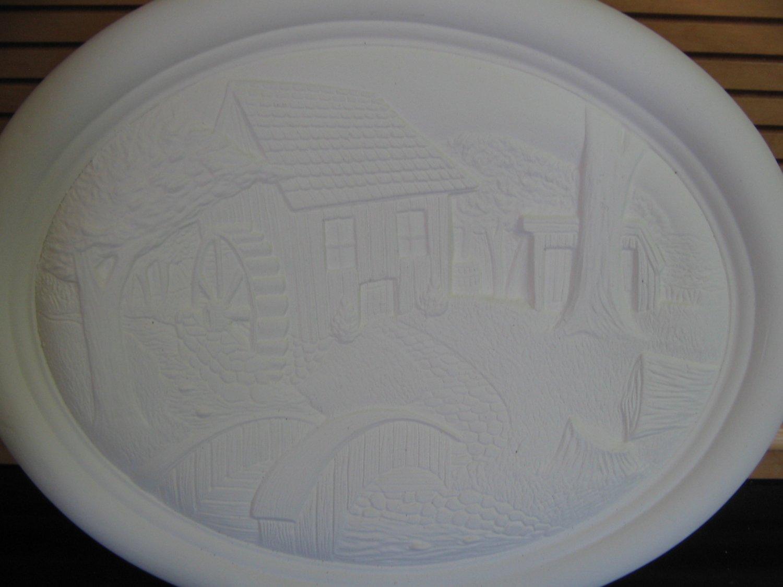 Ceramic Bisque Old Mill Wall Hanging U Paint Ceramics