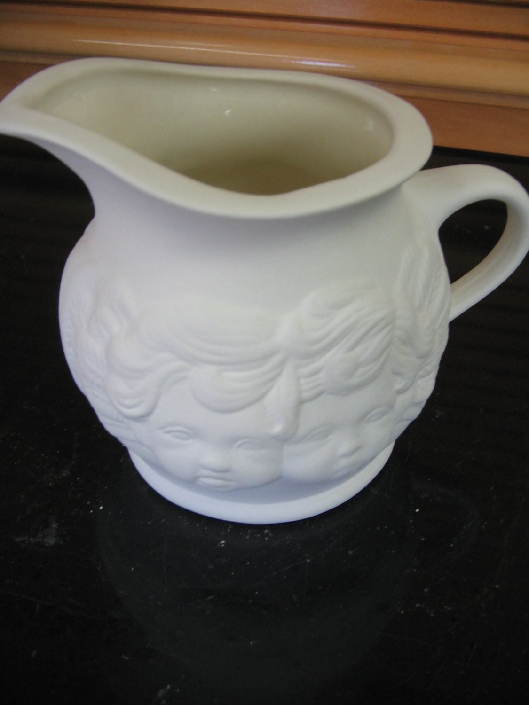 Ready To Paint Cherub Creamer U Paint Ceramics Bisque