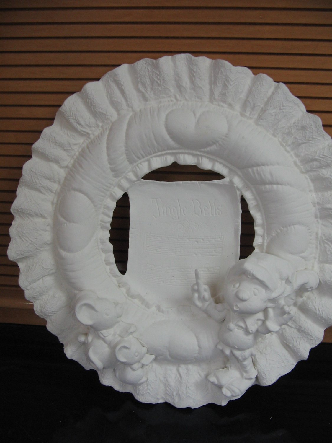 Holiday Quilt Look Wreath Ready To Paint Ceramics U Paint