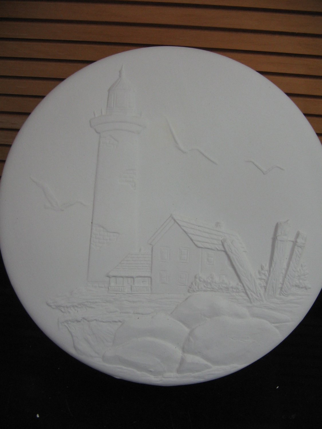 Lighthouse Scene Trinket Box Ready To Paint Ceramics Bisque U Paint Ceramic