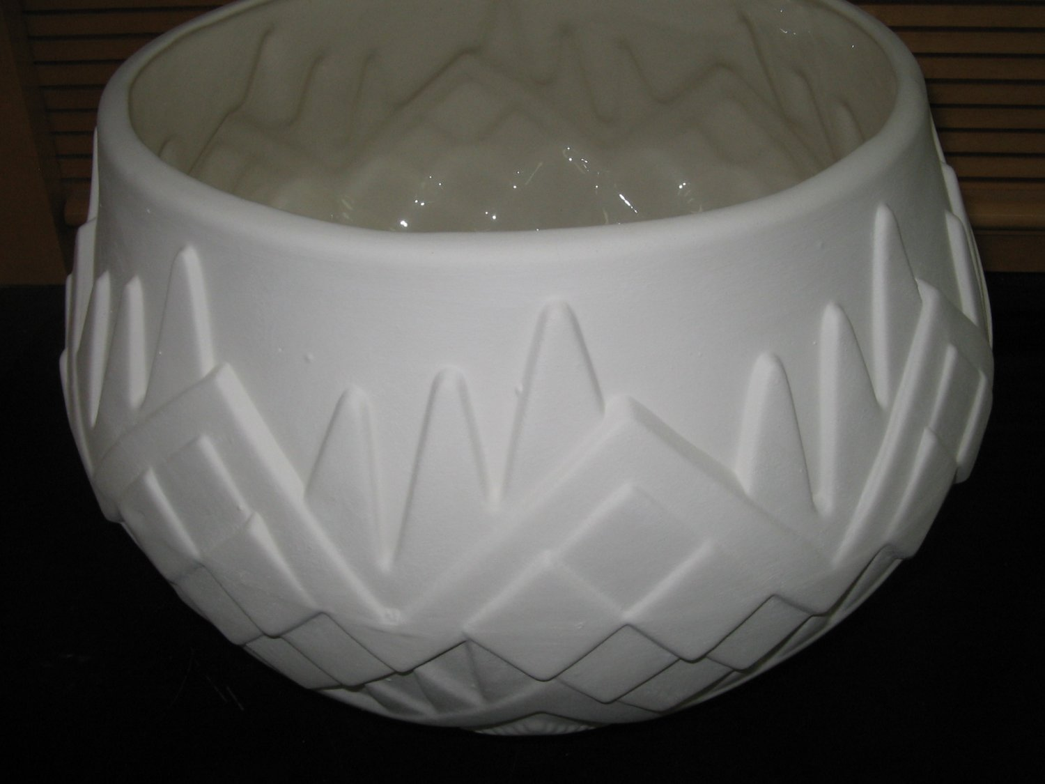 Large Southwestern Look Flower Pot Planter Ceramic Bisque Ready To Paint Ceramics