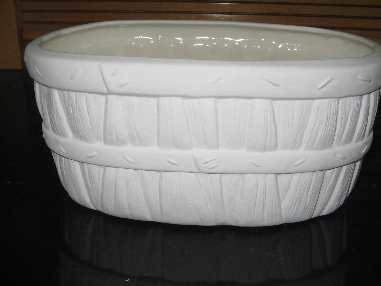 Ready To Paint Bushel Basket Look Planter Flower Pot U Paint Ceramics