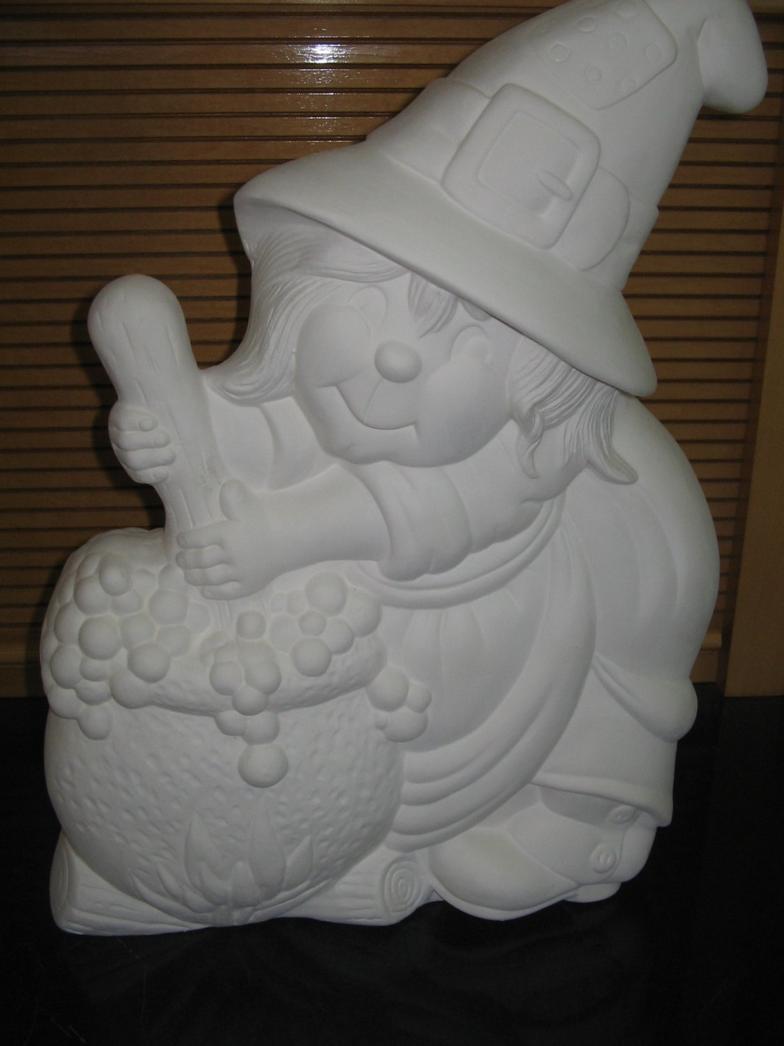 Large Witch With Cauldron Ready To Paint Ceramic Bisque Ceramics U Paint