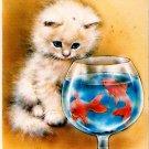 Vintage Greeting Card Kitten Cat