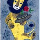 Vintage Greeting Card Dancing Lion Hat Cane