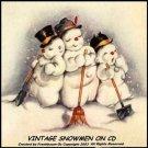 Snowmen Snowman Vintage Christmas Images On CD