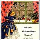 Art Deco Vintage Christmas Images On CD