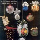 Festive Foil ORNAMENTS book Plaid #8978 EASY Free Shipping