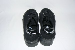Sneakers Women Fashion Shoes NAF NAF Black 7.5 EU38 euc