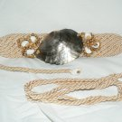 VINTAGE BELT Satin Cord & Shell 1 size fits most