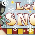 MAGNETIC Mailbox or Door Sign LET It SNOW  15 x 5.5 NEW