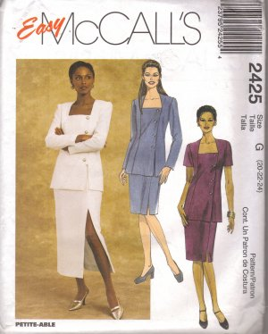 PLUS SIZE Sewing pattern Top & skirt EASY McCalls 2425 FREE SHIPPING