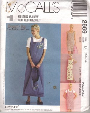 Misses� Shift Jumper Tote bag sewing pattern McCall�s 2669 Woman�s Day FREE SHIPPING