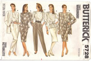 WARDROBE 12 14 16 Butterick 5728 Vintage Sewing pattern FREE SHIPPING