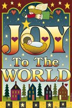 Christmas JOY TO THE WORLD Large FLAG New Banner ANGELS