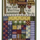 Bookmark BEE KIND BEE TRUE Country Sampler style