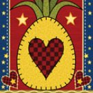 Pineapple NEW Garden FLAG Large decorative banner Hospitality 24 x 36