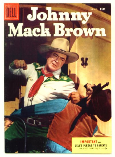 JOHNNY MACK BROWN Dell Comics 1955 Four Color #645 Western