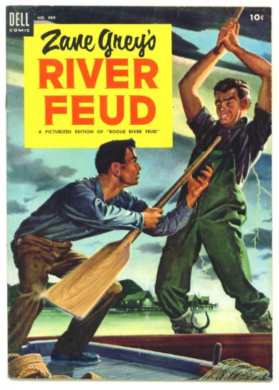 ZANE GREYS RIVER FEUD Dell Comics 1953 Four Color #484