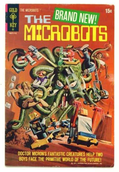 MICROBOTS #1 Gold Key Comics 1971 One-Shot Robot Cover