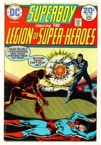 SUPERBOY #201 DC Comics 1974 LEGION of SUPERHEROES