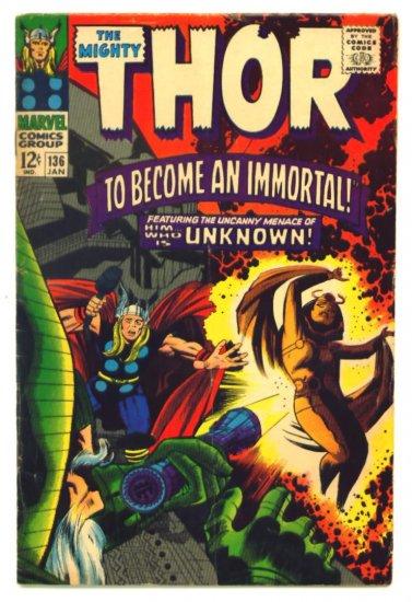 THOR #136 Marvel Comics 1967 Jack Kirby