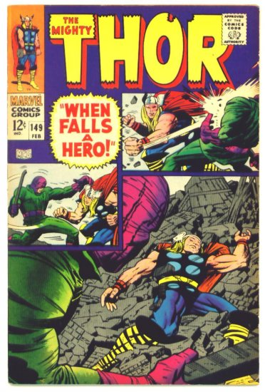 THOR #149 Marvel Comics 1968 INHUMANS Origin