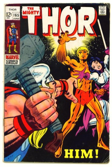 THOR #165 Marvel Comics 1969 WARLOCK First Full Appearance