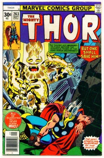THE MIGHTY THOR #263 Marvel Comics 1977