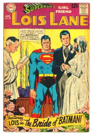 LOIS LANE #89 DC Comics 1969 Batman & Superman co-star