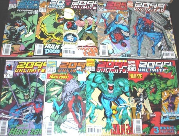 2099 UNLIMITED Lot of 9 Marvel Comics #1 - #10