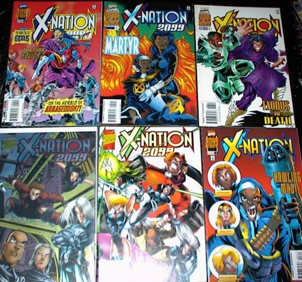 X-NATION 2099 Lot of 6 Marvel Comics #1 - #6 Complete Set