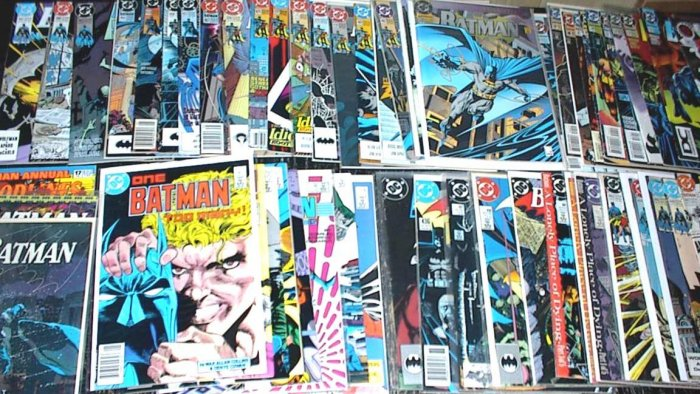 BATMAN Lot of 43 DC Comics 1986 - 1996 #401 - #536