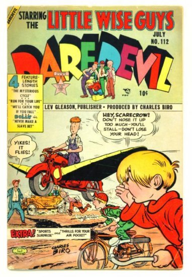 DAREDEVIL COMICS #112 Lev Gleason 1954 Little Wise Guys