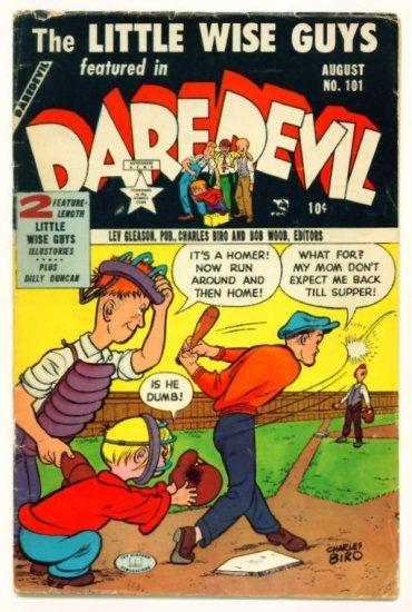 DAREDEVIL COMICS #101 Lev Gleason 1953 Little Wise Guys