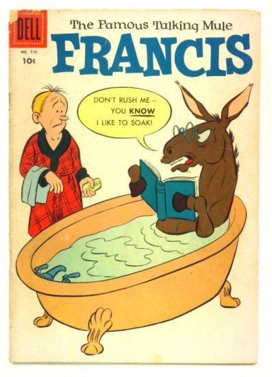 FRANCIS The Talking Mule Dell Comics 1956 Four Color #710