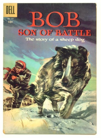 BOB Son of Battle Dell Comics 1956 Four Color #729 Collie