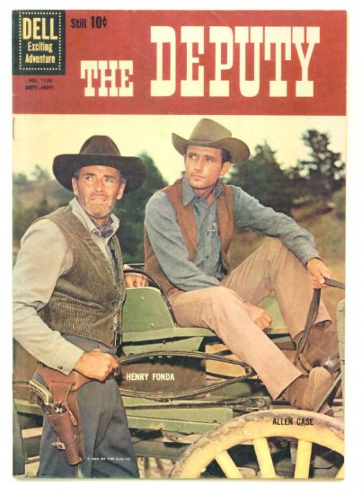 The DEPUTY #2 Dell Comics 1960 Henry Fonda Western