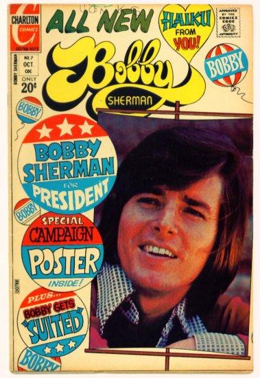 BOBBY SHERMAN #7 Charlton Comics 1972 Photo Cover