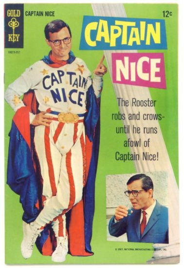 CAPTAIN NICE #1 Gold Key Comics 1967 FINE