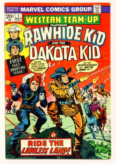 WESTERN TEAM-UP #1 Marvel Comics 1973 First Dakota Kid