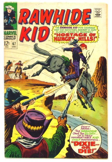 RAWHIDE KID #67 Marvel Comics 1968 Western
