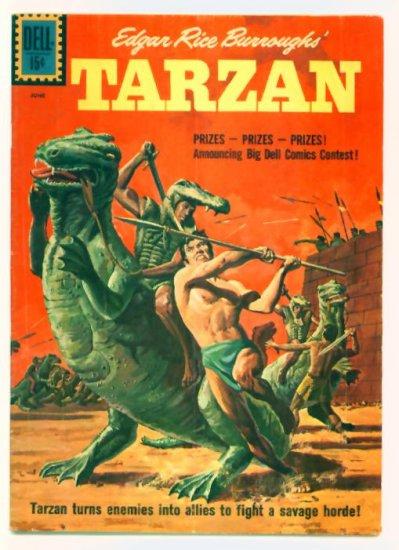 TARZAN #124 Dell Comics 1961 Dinosaur cover