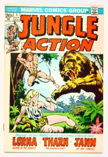 JUNGLE ACTION #1 Marvel Comics 1972 VF Lorna Queen of the Jungle