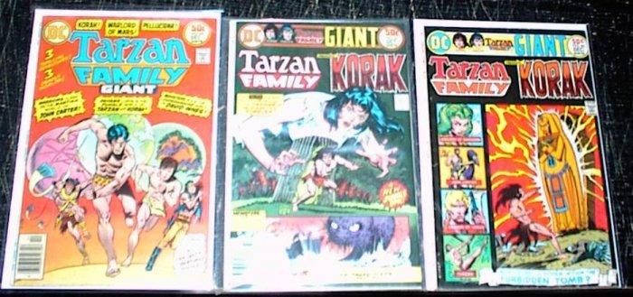 TARZAN FAMILY Lot of 3 DC Comics #60 #65 #66 1970's